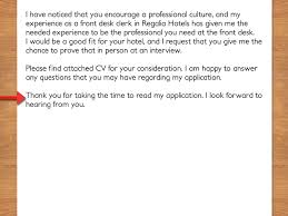 how to write a cover letter to a hotel vripmaster it s always polite to include a note thanking the person for the time he or she took to your application for instance you