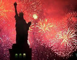 Image result for U.S. flag and fireworks