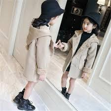 Princess Winter Horn Button Hooded Pea Coat Outerwear Jacket ...