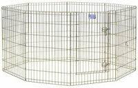 «<b>MidWest Вольер</b> для собак 8 панелей с дверью позолоченный ...