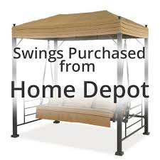patio swing canopy home trends the home depot homedepot swings th the home depot