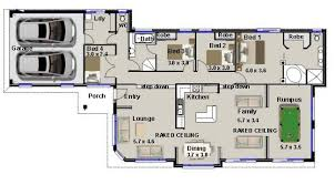 Bedroom Home Narrow Block Split Level  House Plan  narrow block    master buildernarrow block homes  bedroom design