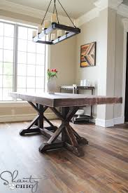 free dining table plans chic dining room table