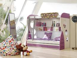 white furniture cool bunk beds: bedroom nice and cool bunk beds with stairs for girls combined purple storage for kids