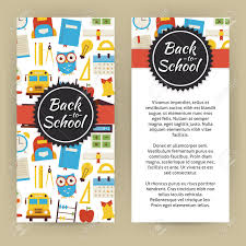 flyer template of back to school and education objects and flyer template of back to school and education objects and elements flat style design vector