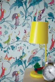 zones bedroom wallpaper: this cockatoo wallpaper design for kids is from the zagazoo collection by osborne and little