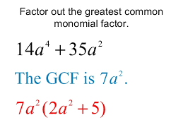 Similarly  when factoring a monomial  find all factors that have the product of that number  For example    x  has the factors     x    x   x    x  x   x      SchoolTutoring Academy