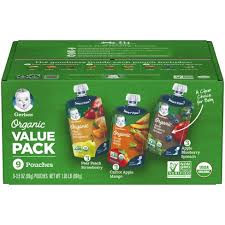 Gerber <b>Organic</b> 2nd Foods <b>Fruit</b> & Veggie <b>Baby Food</b> Value Pack ...