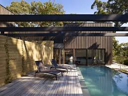 architectural modern design cheap pool deck ideas with elegant furniture on the wooden floor can add the natural tuoch inside house with glasses door cheap elegant furniture