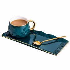 Североевропейская керамическая чашка с тарелкой, креативная ...