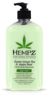 HEMPZ Молочко увлажняющее для тела, зеленый чай и груша ...