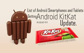 List of Android Smartphones and Tablets Getting Android 4.4 KitKat ...