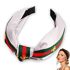 Knotted Headbands for Women, Red <b>Green</b> Stripe Hair <b>Hoops</b> with ...