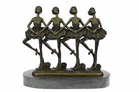 Handmade European <b>Bronze</b> Sculpture <b>100</b>% <b>Modern</b> Ballerina