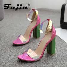 Fujin Sandals <b>Women</b> 2019 Summer Open Toe Sandals ...