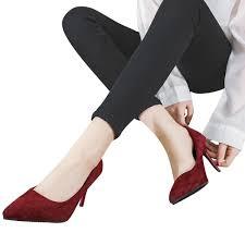 Youyedian African Ladies Shoe Fashion Sexy <b>Flock</b> Thin <b>High</b> Heel ...