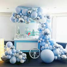 111pcs/set Macaron Blue <b>Yellow Pastel</b> Balloon Garland Arch Set ...
