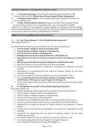 cv finance officerpage  of