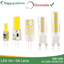 Kaguyahime 1pcs/5pcs <b>LED Lamp</b> G9 <b>G4 led bulb</b> Dimmabl AC/DC ...