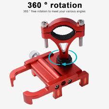360 Degree Rotation Aluminum Alloy <b>Bicycle Phone</b> Holder ...