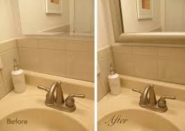 update bathroom mirror: a mirror frame covers desilvering edges