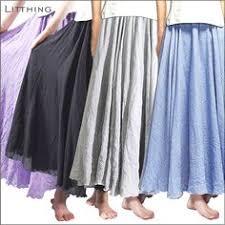<b>Litthing New</b> Long Skirt Women <b>High</b> Waist Skirt Solid Color Pleate ...