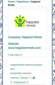 bullet train or better trains what does need new craziest telephonic round interview questions and answers of happiest minds shared by ashwani sharma