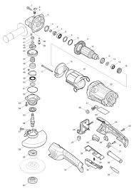 <b>Makita GA5021C</b> Cprded 125mm Angle Grinder 110v & 240v Spare ...