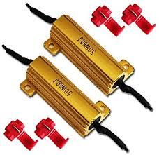 flexzon <b>2 x 12V</b> LED LOAD IN-LINE RESISTORS 50W <b>6</b> OHM FOR ...