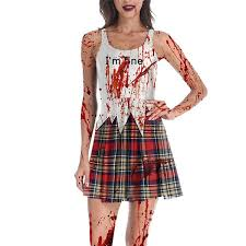 <b>Halloween</b> Horror Zombie Female Ghost <b>Pattern</b> Dress in 2020 ...