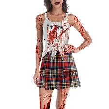 <b>Halloween</b> Horror Zombie Female <b>Ghost Pattern</b> Dress in 2020 ...