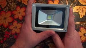 <b>Прожектор</b> на светодиоде. <b>10W</b>. Обзор. - YouTube