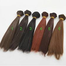 6PCS/LOT <b>Hot Sale</b> DIY BJD Wig Hair 25CM Culry <b>Doll</b> Hair For ...