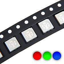 Chanzon 100 pcs 5050 SMD RGB Tricolor LED Diode ... - Amazon.com