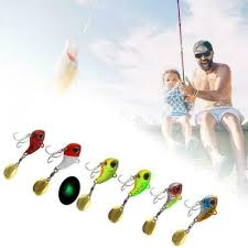 <b>Metal Mini VIB With</b> Spoon Fishing Lure Winter Ice Lures Crankbait ...
