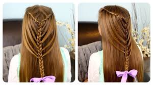 Waterfall Twists into Mermaid Braid | Cute <b>Girls</b> Hairstyles - YouTube