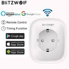 BlitzWolf BW SHP2 <b>WIFI Smart Socket EU Plug</b> 220V 16A Remote ...