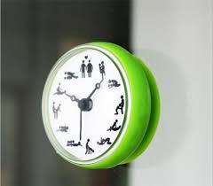 DIY Large Wall Clock <b>3D Creative Bathroom</b> Clock/Toilet/Waterproof ...