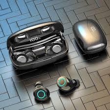 <b>AWEI T19 TWS 5.0</b> 2500mAh led display earphone noise cancelling ...