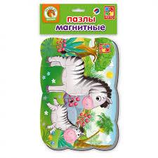<b>Пазлы на</b> магните <b>Vladi Toys</b> Зебра VT3205-56 Артикул 741031 ...
