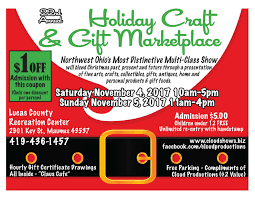 coupons cloud productions art craft and marketplace 22nd annual holiday craft and gift marketplace lucas co rec center aka linedrive sportz 2017 11 04 2017 11 05 maumee oh