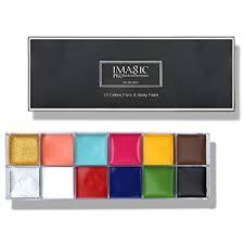 Face Body Paint IMAGIC Brand 12 Flash Colors case ... - Amazon.com