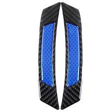 Car Carbon Fiber Safety Warning Reflective Sticker Blue 4pcs Sale ...