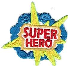 Cub Girl Boy SUPER <b>HERO Embroidered</b> Iron-On Fun Patch Crests ...