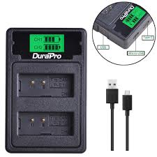 LP-E10 LCD USB Charger with Type C for <b>CANON LP-E10</b> EOS ...