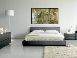 decoration bedroom marvelous artwork portray over gray low profile master bed white covers sheet on white bedroom gray walls