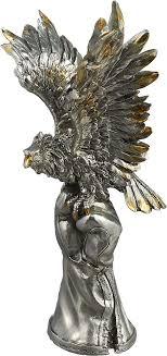 <b>Фигурка декоративная Lefard</b> Орел, 50-832, темно-серый, 22 х 17 ...