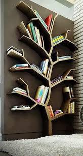 Необычная книжная <b>полка</b> в виде дерева. Красиво и ...
