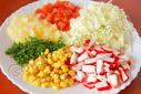 Салат с крабовыми палочками и капустой видео