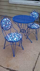 vintage wrought iron patio furniture blue antique rod iron patio